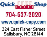 quick copy print shop salisbury nc
