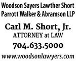 carl short jr attorney salisbury nc