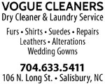 vogue cleaners salisbury nc